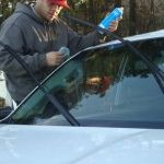 Sealing a windshield after replacing it