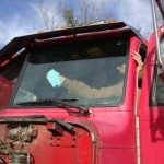 Tractor windshields can be damaged by flying rocks.